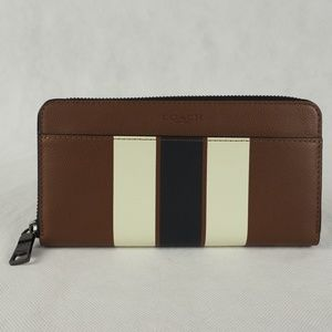 Coach Accordion Wallet Zip Varsity Saddle Brown